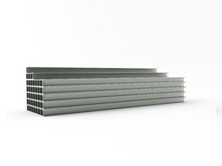 girders: 3d made steel girder on white background