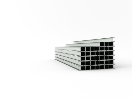 steel girder: 3d made steel girder on white background