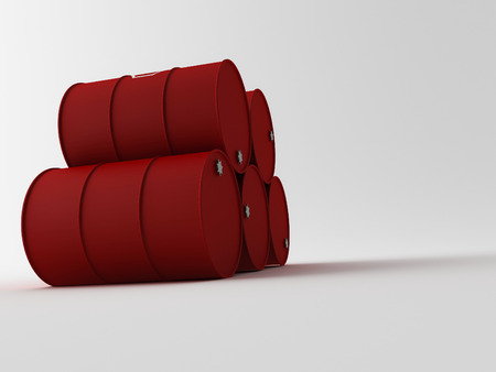 stacked up: 3d oil barrels stacked up and ready for shippment