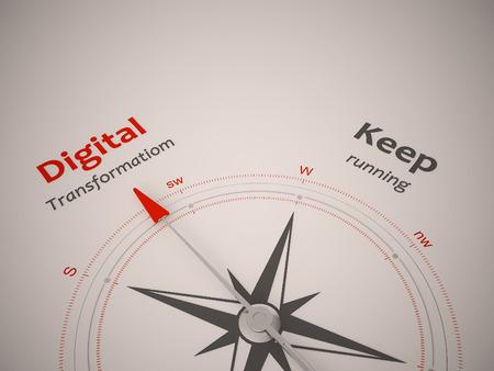 Conceptueel 3D geef beeld met een frameloze Kompas focus op enkel woord Stockfoto