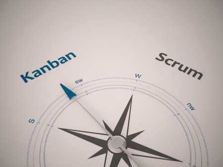 Conceptual 3D render image with a frameless Compass focus on single word
