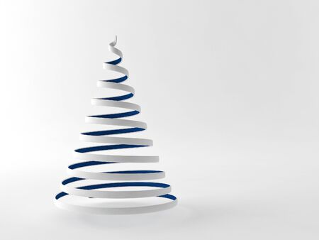 a 3d rendered xmas tree on a gray background