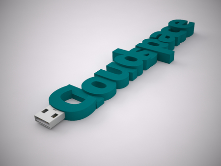 pendrive: a 3d rendering usb stick on a grey background
