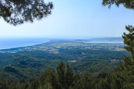 View of old battlegrounds of Anzac Cove (Ariburnu) From Chunuk Bair (Conk Bayiri), Canakkale, Turkey