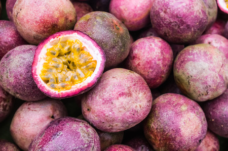 exotic fruits: Passion Fruit Stock Photo