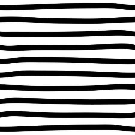 Black and white seamless stripes background. Hand drawn stripes pattern. Vector striped wallpaper. Vector Illustratie