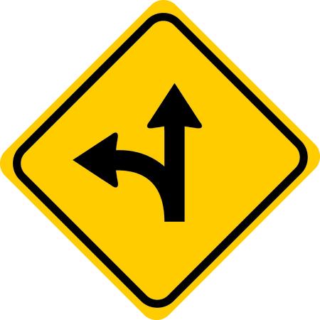 Go straight turn left