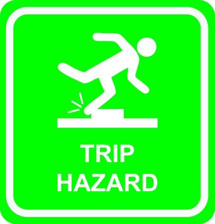 trip hazard: trip hazard Stock Photo