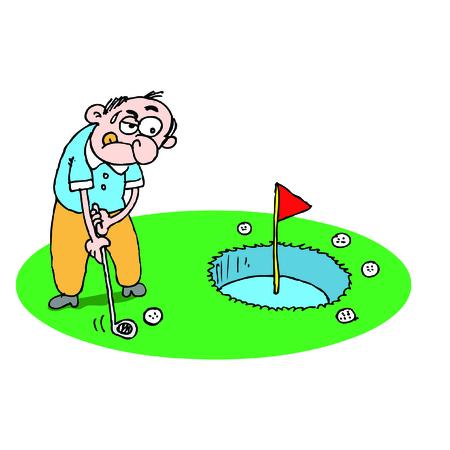 novice: novice golfer