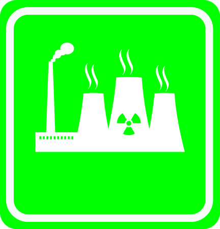 thermal reactor sign Illustration