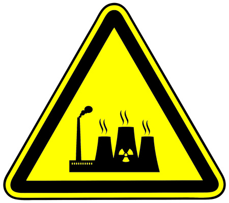 reactor: Thermal reactor sign, icon