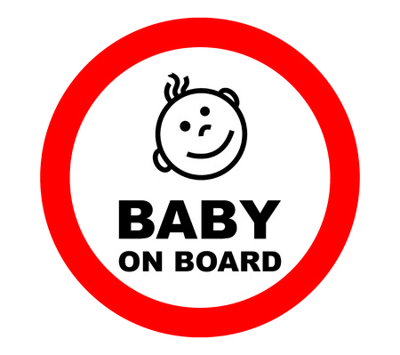 baby: Baby on Board in white background.