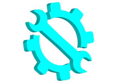 Service tool icon Illustration