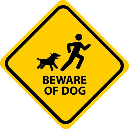 beware: Beware of dog. Illustration
