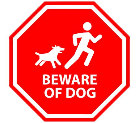 Beware of dog. Illustration