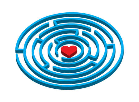 labyrinth to love Illustration