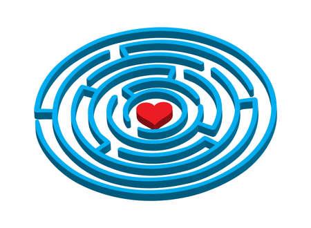 zvýšil: labyrintu milovat Ilustrace