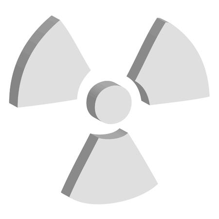 explosion hazard: radioactive Illustration