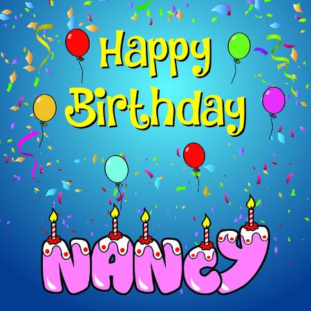 Happy birthday nancy Illustration