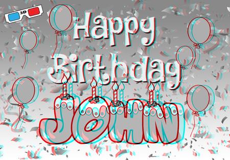 3D stereographic john Фото со стока