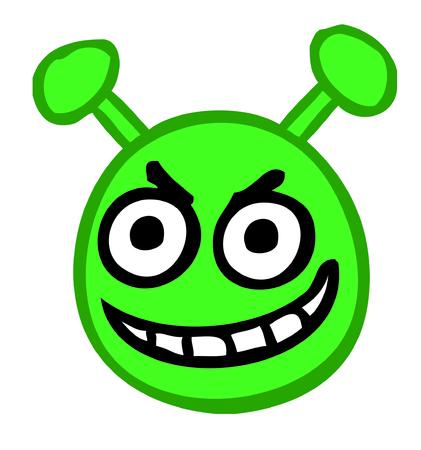 smile alien emogy