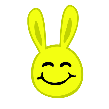 Smiley Rabbit Illustration