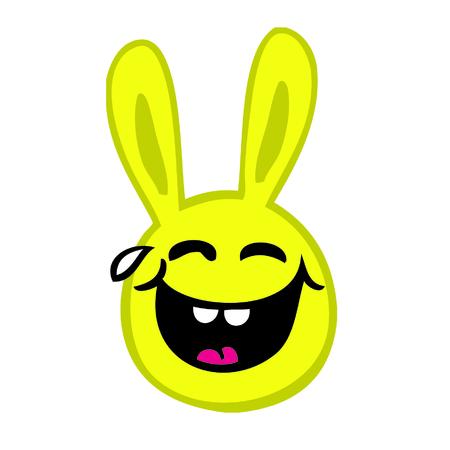 Smiley Rabbit Illustration
