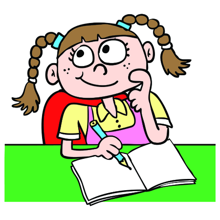 Ragazza che fa i compiti