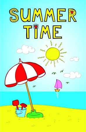 Summer time. Иллюстрация