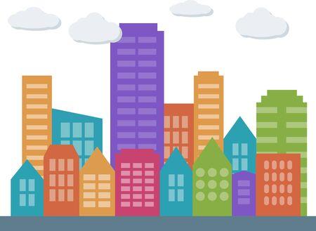city: city ??landscape Illustration