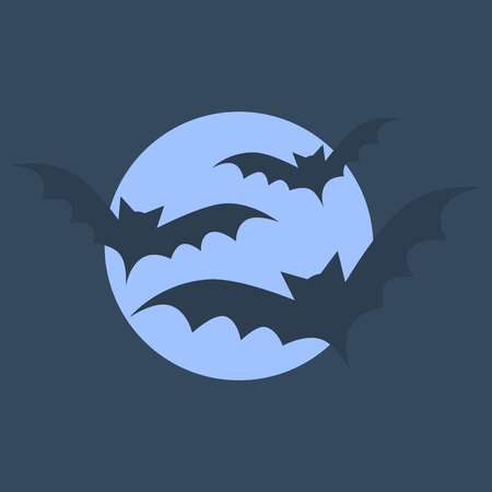Bats in the dark night