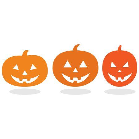 Drie pompoenen voor Happy Halloween