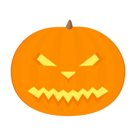 Happy Halloween pumpkin. In flat design. Иллюстрация