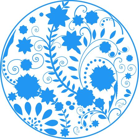 Russian national pattern khokhloma. Traditional Folk Ornament in Russia. Vector.