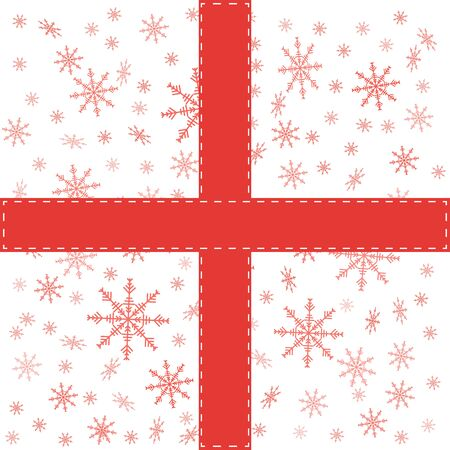 sealing: Pattern with snowflakes. Vector background. Sealing tape.