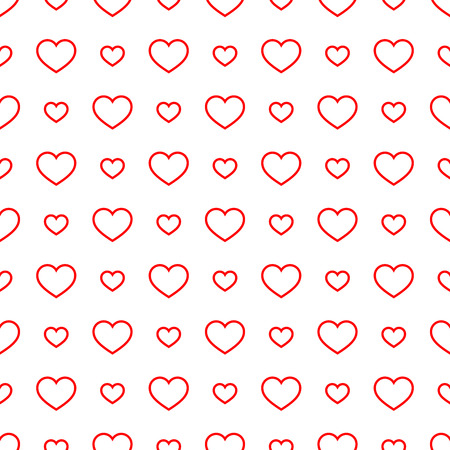 Seamless geometric pattern with hearts.Vector illustration on a valentines day. Illustration