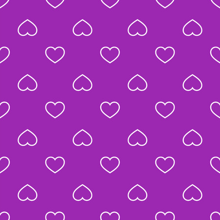facing: Seamless geometric pattern with hearts.Vector illustration on a valentines day. Illustration