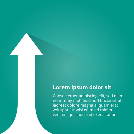 onwards: Arrows business growth. Vector infographic illustration Illustration