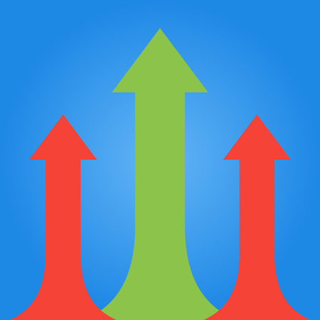 Arrows business growth. Vector infographic illustration Illustration