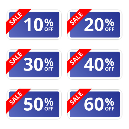 bargains: Sale colorful tags, banners, stickers. Offer. Vector illustration. Illustration