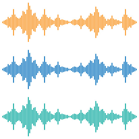 soundtrack: Vector sound waves. Music Digital Equalizer. Audio technology, musical pulse.