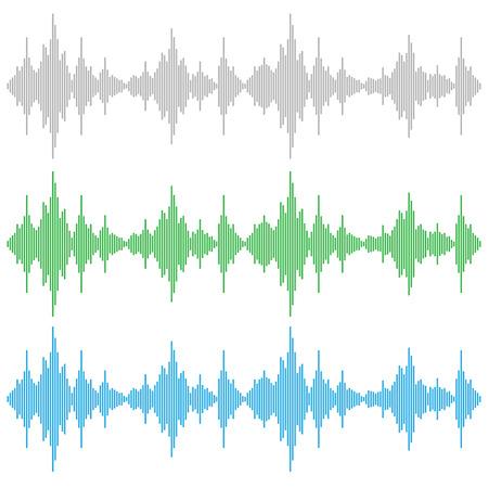 equalize: Vector sound waves. Music Digital Equalizer. Audio technology, musical pulse.
