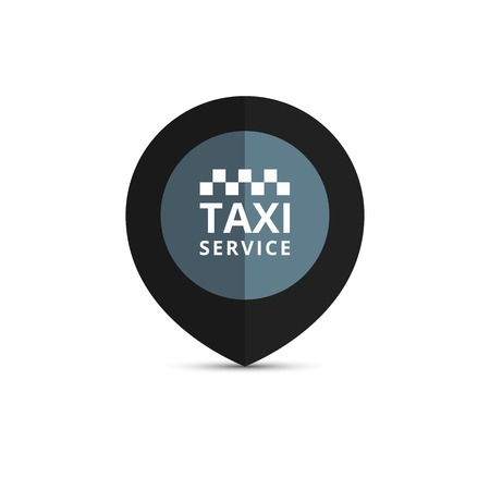 Taxi, cab logo, design. Taxi point graphic icon. Vector illustration