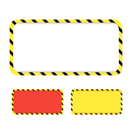 Border yellow and black color. Construction warning border. Vect