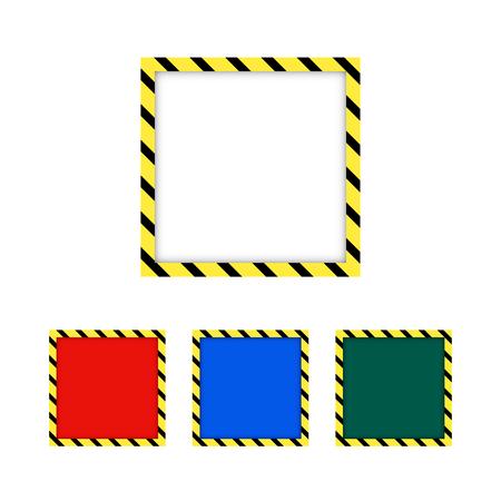 Grenze gelb und schwarz. Bauwarnung. Vect