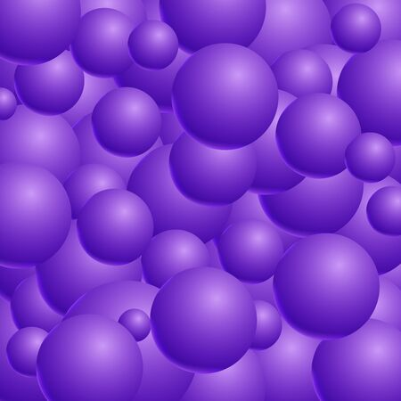 Abstract vector background with 3d balls. Spheric pattern. Vecto Stock Photo