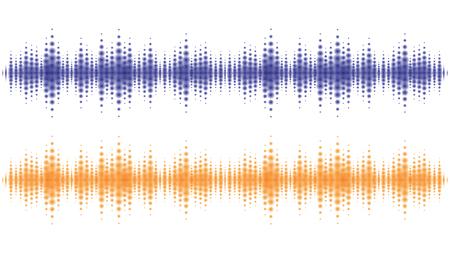 Sound waves light effect. Music digital equalizer