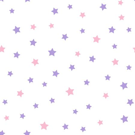 Naadloos geometrisch patroon van sterren. Multi-coloured sterren op een witte achtergrond. Vector illustratie