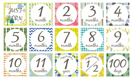 Monthly Card Nordic Pattern 写真素材