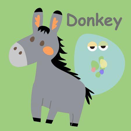 Alphabet Card Donkey